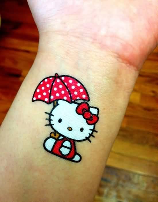 hello kitty tatuaje mujer