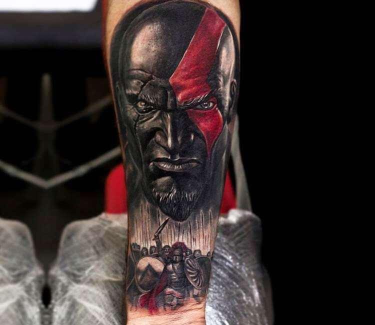 kratos tatuaje
