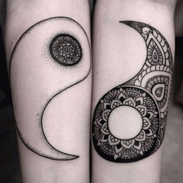 tattoo de yinyang para novios