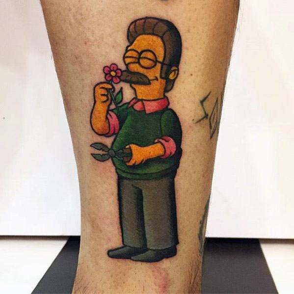 tattoo ned flanders