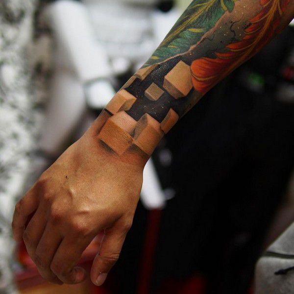 tatuaje con efecto optico