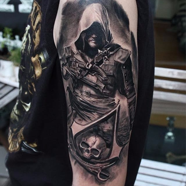 tatuaje de assassins creed