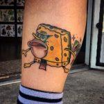 tatuaje de bob esponja