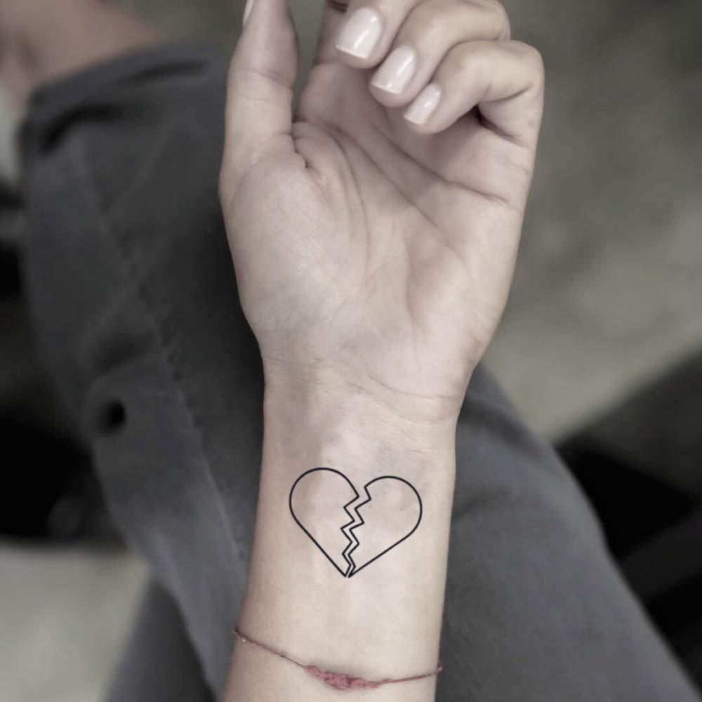 tatuaje de corazón roto