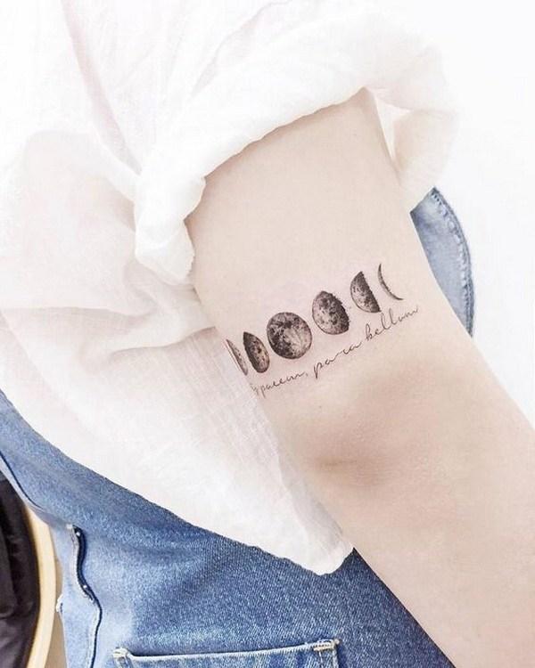 tatuaje de fases lunares