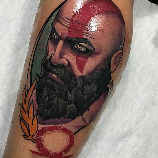 tatuaje de god of war
