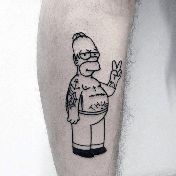 tatuaje de homero simpson