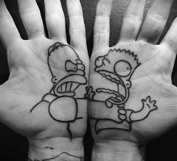 tatuaje de homero y bart