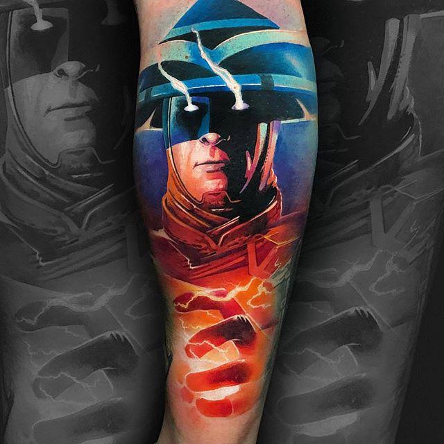 tatuaje de rayden mortal kombat