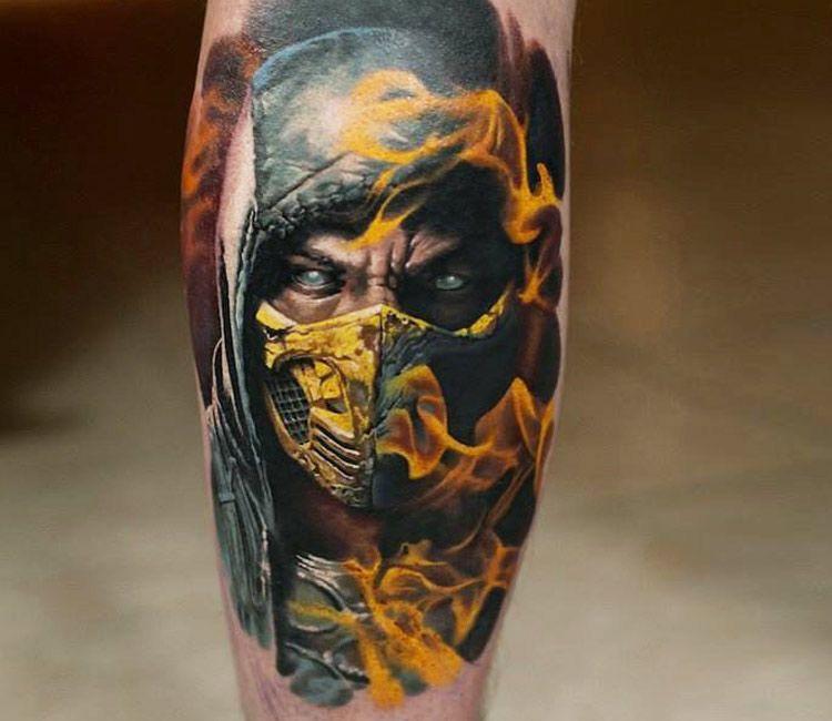 tatuaje de scorpion mortal kombat