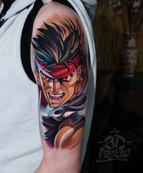 tatuaje de street fighter