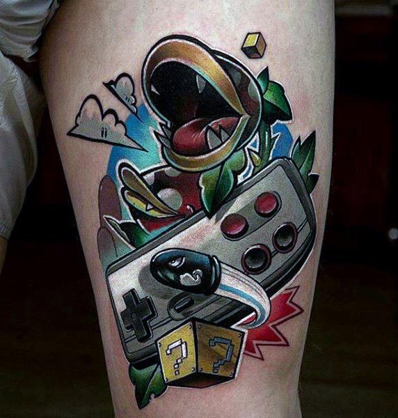 tatuaje de super nintendo