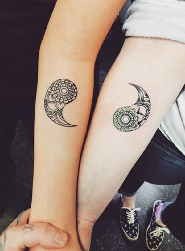 tatuaje de yin yang para parejas