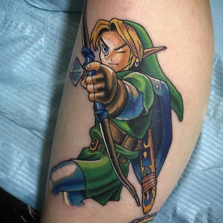 tatuaje de zelda arquero