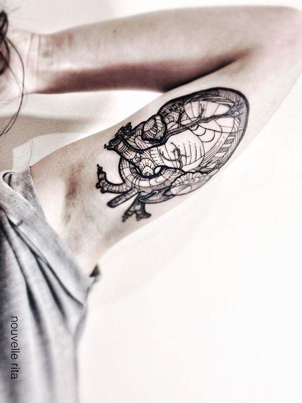 tatuajes de corazon anatomico