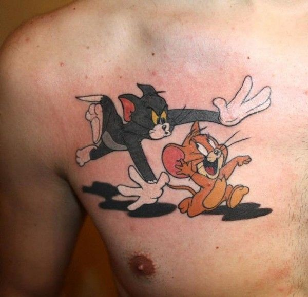 tom y jerry tatuaje