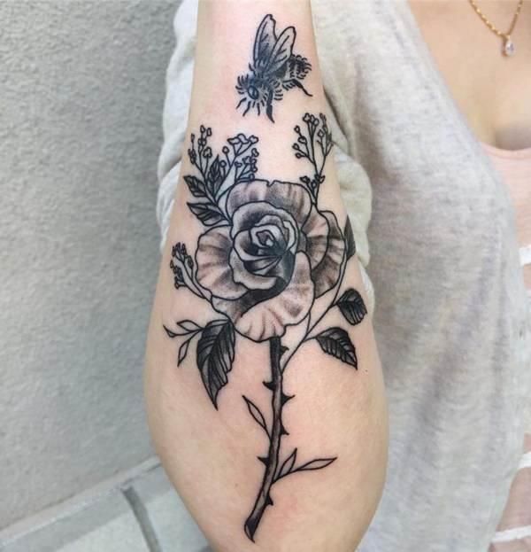 mejores tatuajes de rosa