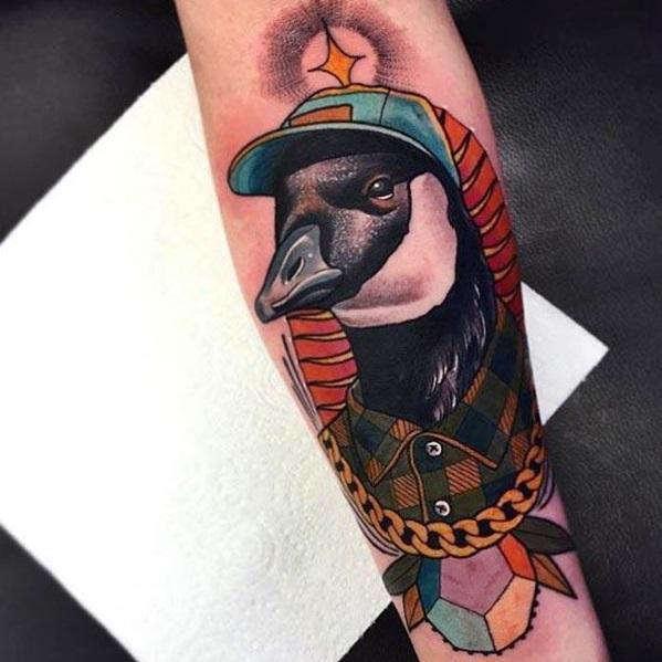 tatuaje de ganso