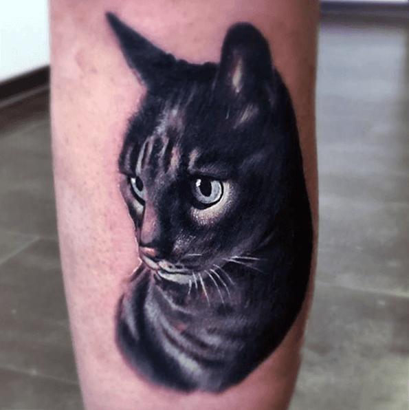 tatuajes de gatos negro