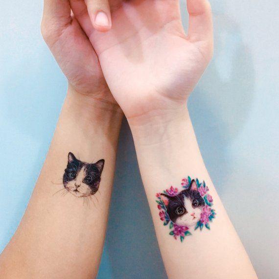 tatuajes de gatos para hermanas