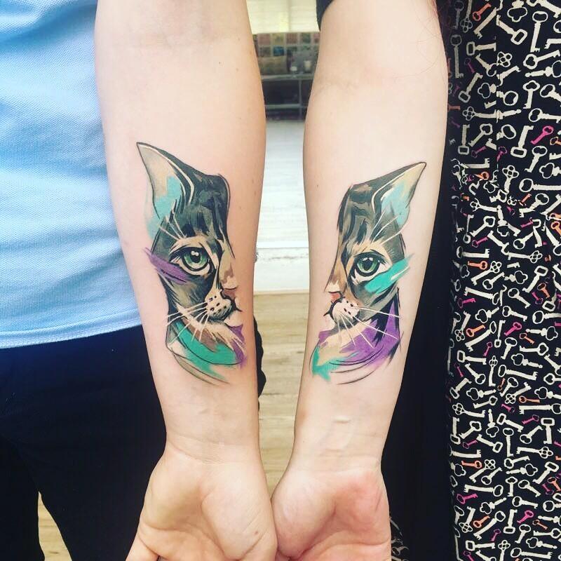 tatuajes de gatos para parejas