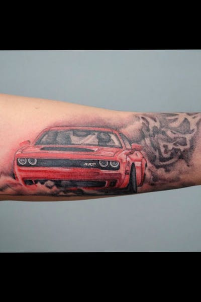 tattoo de dodge hellcat