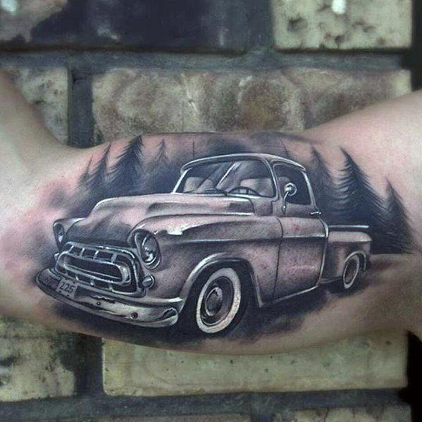 tatuaje camioneta chevrolet