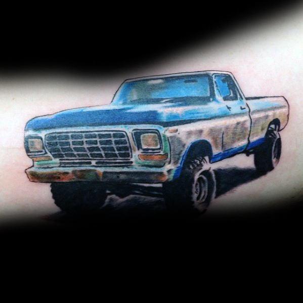 tatuaje de camioneta ford
