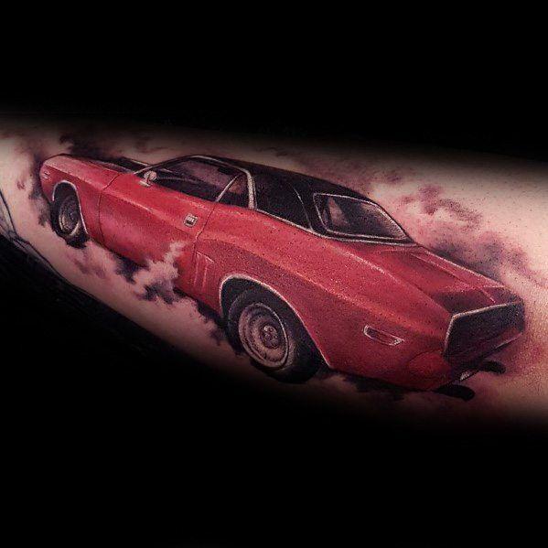 tatuaje de coche dodge
