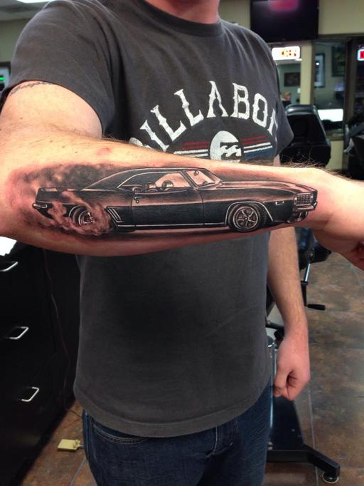 tatuaje de coupe chevrolet