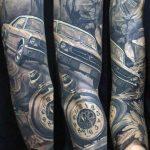 tatuaje de ford mustang