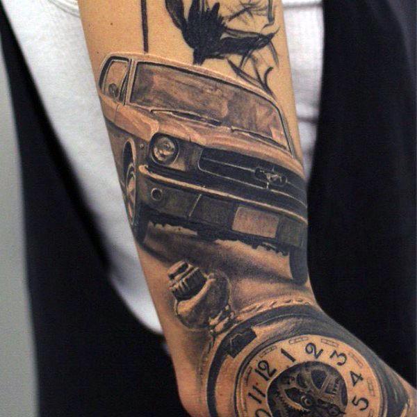 tatuaje de mustang