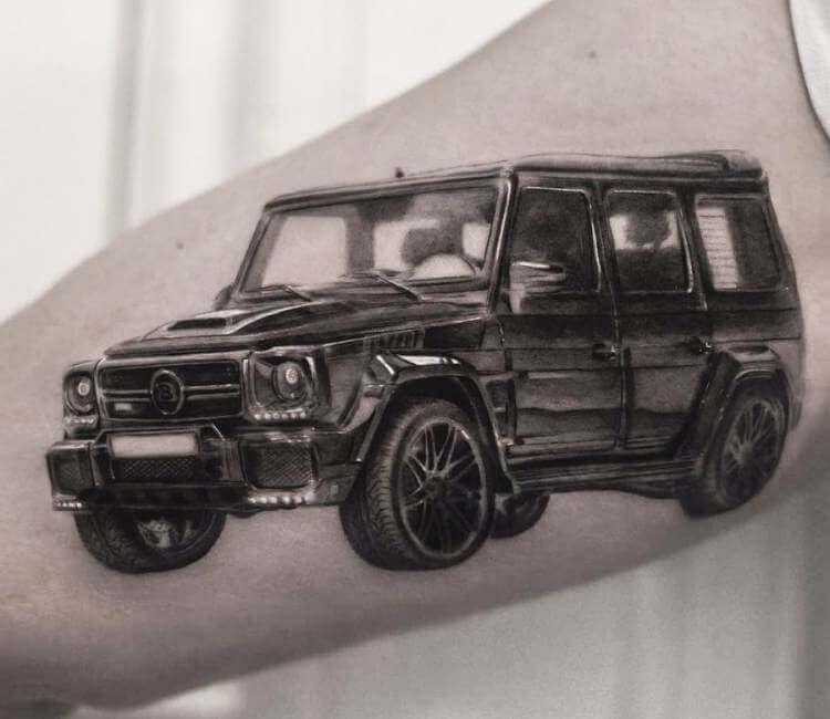 tatuaje de troca mercedes