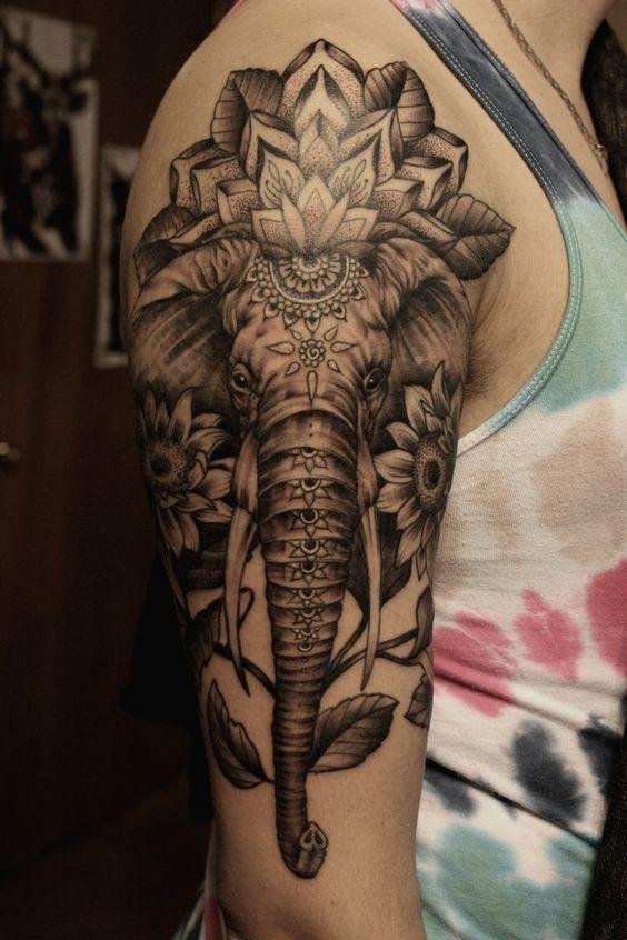 significado de los tatuajes de elefantes
