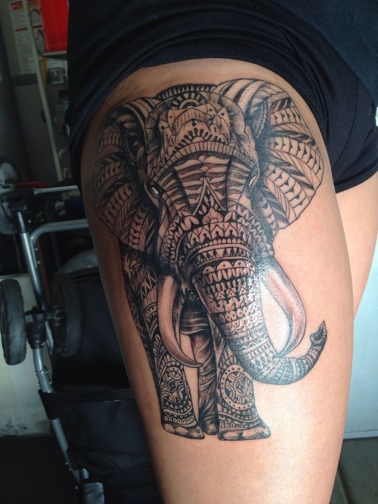 simbolismo del tatuaje de elefante