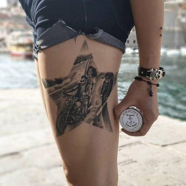 tatuaje original de estrella