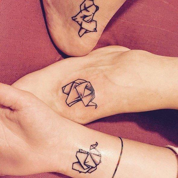 tatuajes de elefantes para amigas