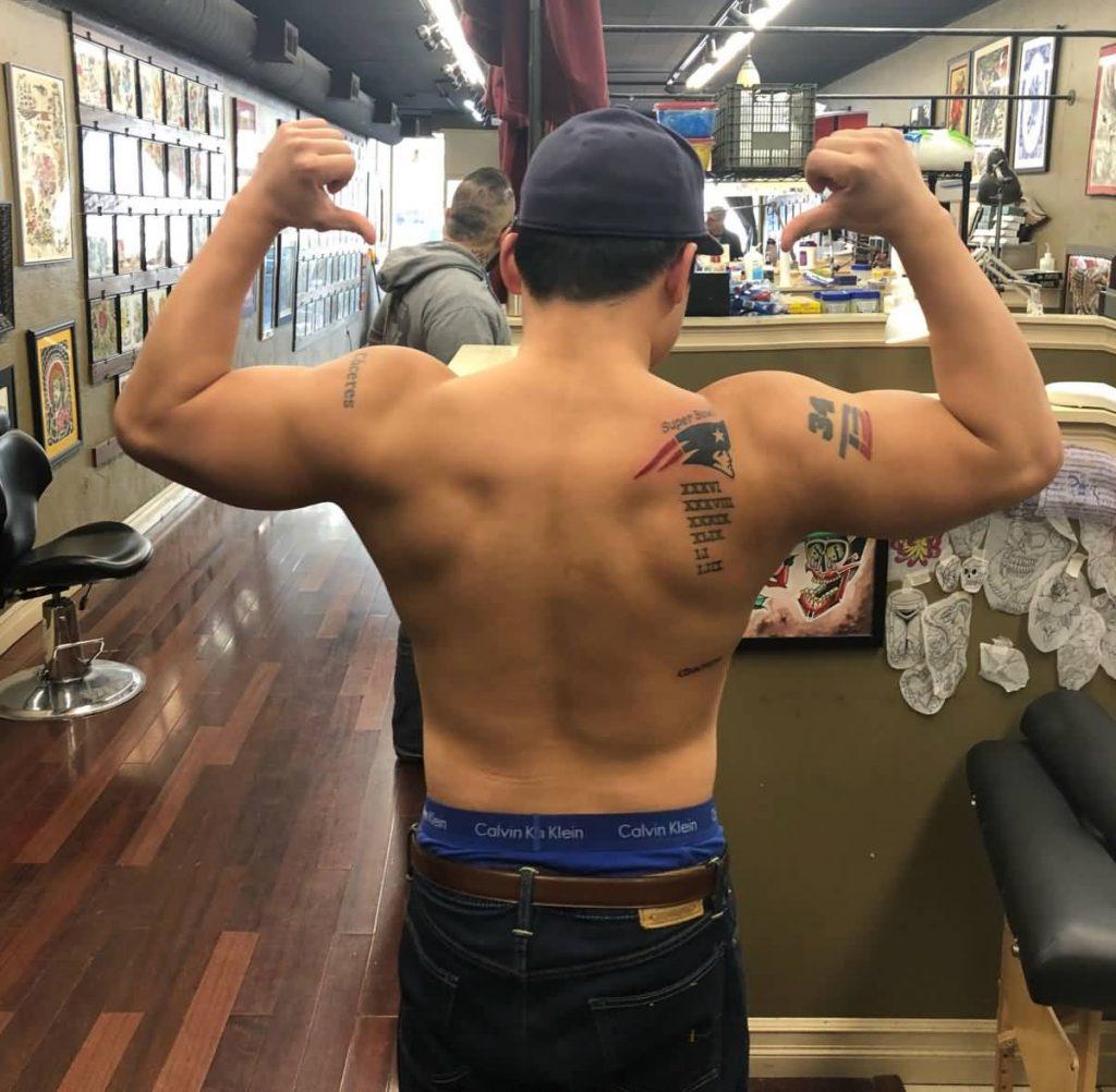 Tatuaje de los New England Patriots