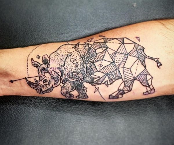 diseños de tatuajes de rinocerontes