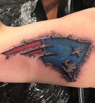 el mejor tatuaje de los new england patriots