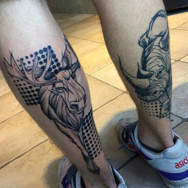 rinoceronte en la pierna