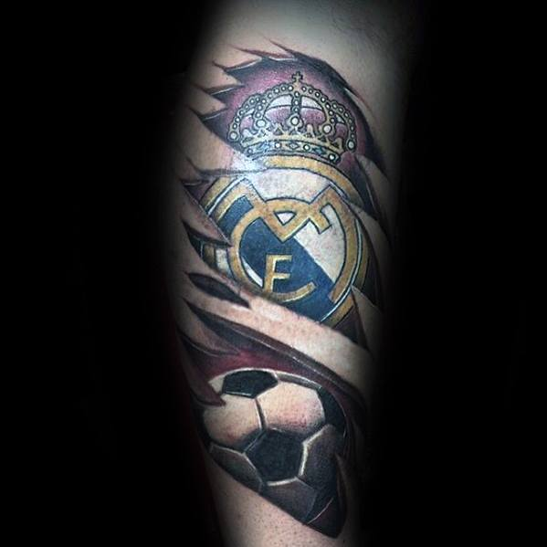 tatuaje balon y real madrid