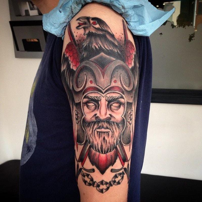 tatuaje de guerrero nordico