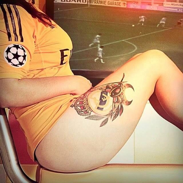 tatuaje de real madrid para ujer