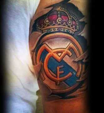tatuaje del madrid a color