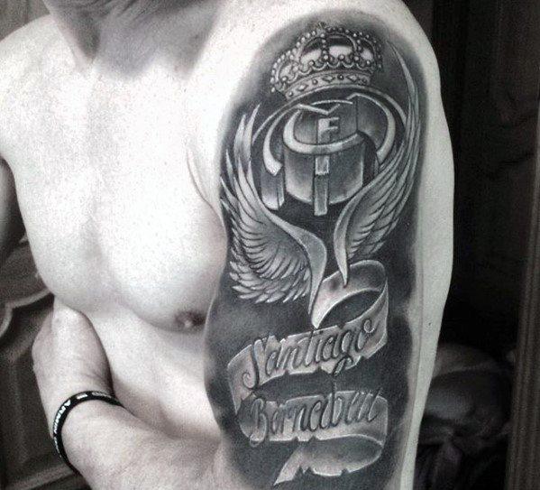 tatuaje en el brazo madrid santiago bernabeu