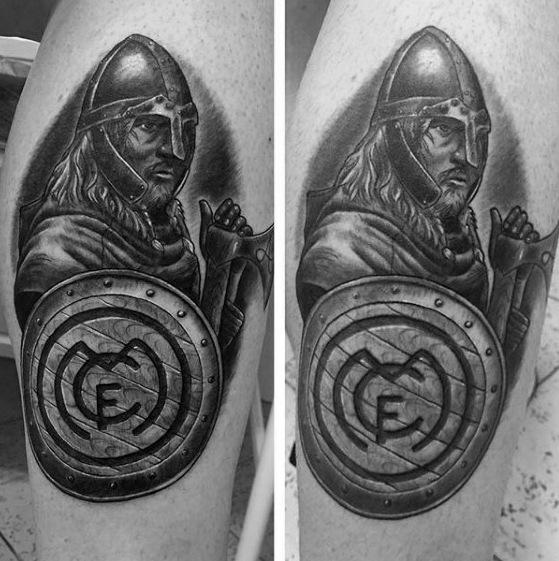 tatuaje guerrero del real madrid