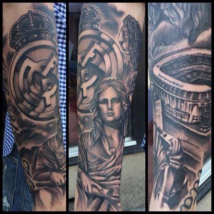 tatuaje manga del real madrid