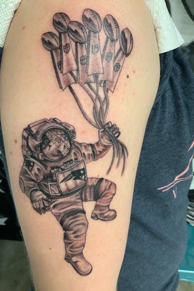 tatuaje original de NE Pats