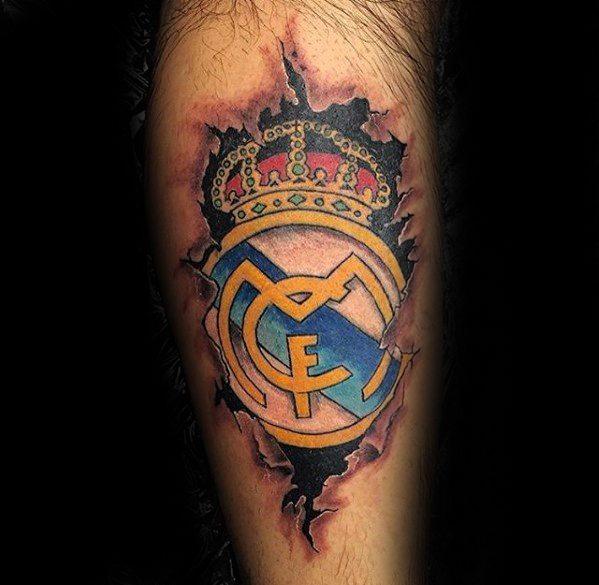 tatuaje real madrid adentro de la piel
